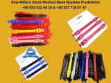 Eine Million Stock Medical Mask Buckles Produktion