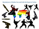 Wholesale rubber guns and knives for training purposes